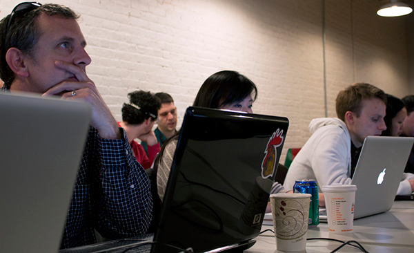 One of the web development classes at Bocoup