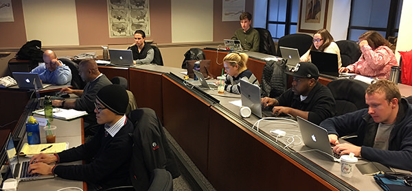 A photo from Level's first Data Science Bootcamp in Boston.